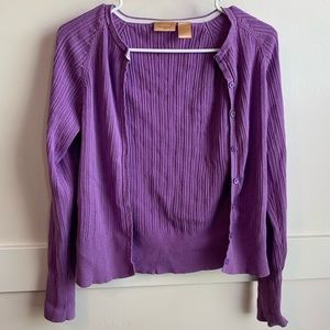 Northcrest Purple Cardigan